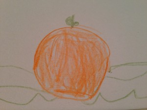 Orange is beautiful as is a preschooler