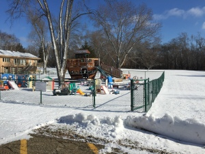 First snowfall for some preschoolers